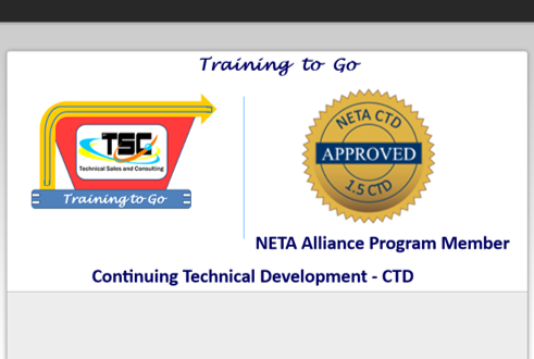 Training to Go NETA CTD Continuous Technical Development